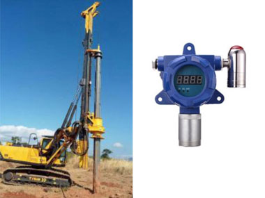Hydrogen sulfide gas detectors at drilling